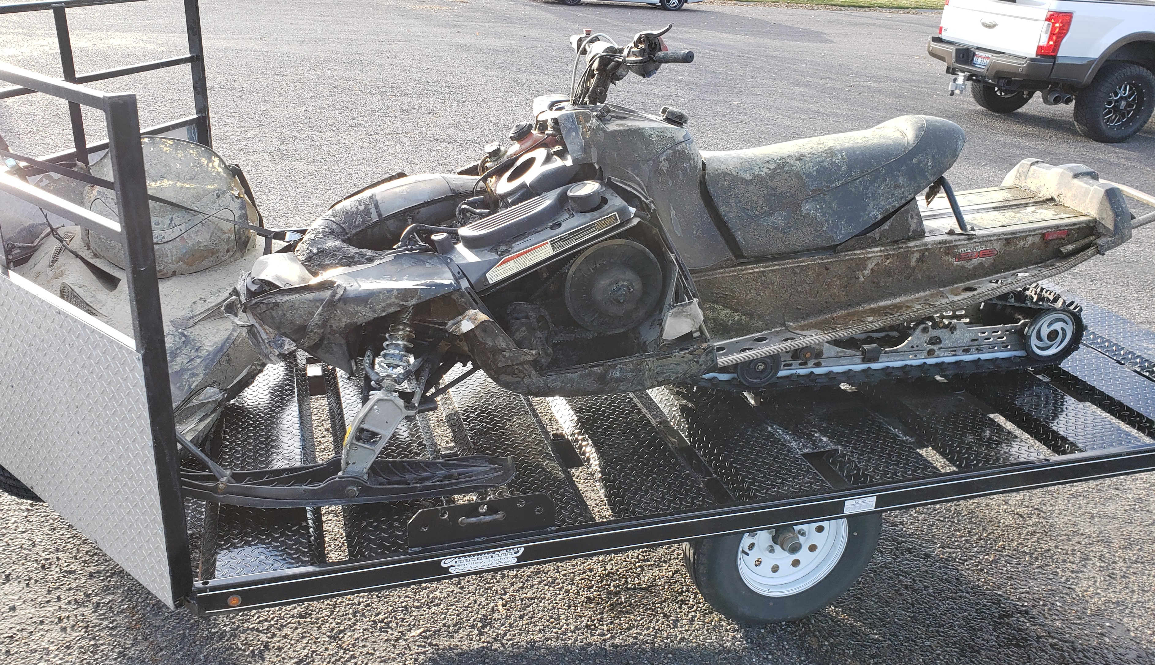 recovered snowmobile